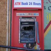 Baltimore Riot Vandalized ATM - N. Fulton and W. North Avenue - April 28, 2015    .JPG