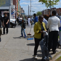 Baltimore Riot Cleanup - W. North Avenue and Woodbrook - April 28, 2015    .JPG